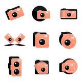 Icône d'appareil-photo Images libres de droits