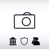 Icône d'appareil-photo ; illustration de vecteur Style plat de conception Images libres de droits