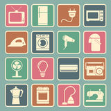 Icône d'appareils ménagers Photo stock