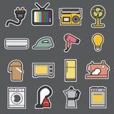 Icône d'appareils ménagers Photographie stock