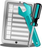 Icône d'application de service de téléphonie Images stock