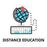 Icône d'apprentissage et de formation à distance d'Internet illustration de vecteur
