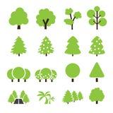 Icône d'arbre Image stock