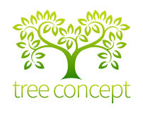 Icône d'arbre Photo libre de droits