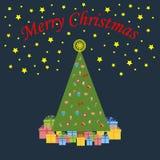 Icône d'arbre de Noël illustration libre de droits