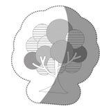 icône d'arbre de timbre de découpe belle Image stock