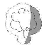 icône d'arbre de timbre de silhouette belle Photo libre de droits
