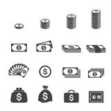 Icône d'argent Images stock