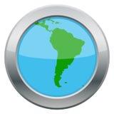Icône d'argent de carte de l'Amérique du Sud illustration libre de droits