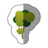icône d'art d'arbre d'autocollant de couleur Image stock