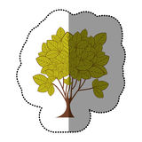 icône d'art d'arbre d'autocollant de vert de chaux Photos libres de droits