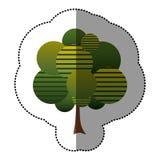 icône d'art d'arbre de timbre Photographie stock libre de droits