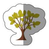 icône d'art d'arbre de vert de chaux Photo stock