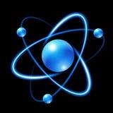Icône d'atome illustration stock