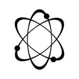 Icône d'atome de vecteur Photo stock