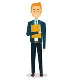 Icône d'avatar de caractère d'homme d'affaires illustration stock