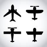 Icône d'avion illustration stock