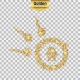 Icône d'or de vecteur Image stock