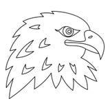 Icône d'Eagle, style d'ensemble Image libre de droits