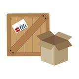 icône d'emballage de carton de boîte Images libres de droits