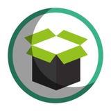 icône d'emballage de carton de boîte Images stock