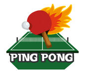 icône d'emblème de sport de ping-pong Images libres de droits