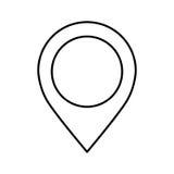 Icône d'emplacement d'indicateur de Pin Images libres de droits