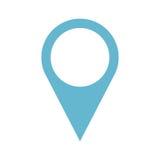 Icône d'emplacement d'indicateur de Pin Images stock