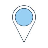 Icône d'emplacement d'indicateur de Pin Photographie stock