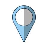 Icône d'emplacement d'indicateur de Pin Photos libres de droits