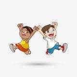 Icône d'enfant Conception d'enfant Concept d'enfance Images libres de droits