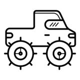 ic?ne d'ensemble de gisement de voiture de Bigfoot illustration de vecteur