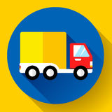 Icône d'expédition de voiture Jeûnez et libérez le concept de la livraison Photos stock