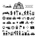 Icône d'explorateur de voyageur illustration stock