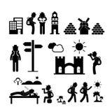 Icône d'explorateur de voyageur de sac à dos illustration libre de droits