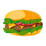 Icône d'hamburger Images stock