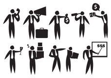 Icône d'homme d'affaires Image stock