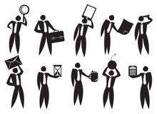 Icône d'homme d'affaires Photographie stock libre de droits