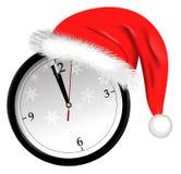Icône d'horloge de Noël Photo libre de droits