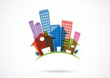 Icône d'immobiliers Photographie stock libre de droits