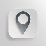 Icône d'indicateur de carte image stock