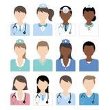 Icône d'infirmière de docteur Image libre de droits