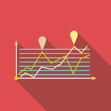 Icône d'infographics d'échelle de croissance, style plat Photo libre de droits
