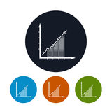Icône d'Infographics, icône de programme Images stock