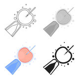 Icône d'insémination artificielle dans le style de bande dessinée sur le fond blanc Illustration de vecteur d'actions de symbole  Image stock