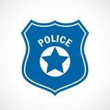 Icône d'insigne de policier illustration de vecteur