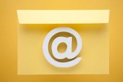 Icône d'Internet de symbole d'email Photos libres de droits