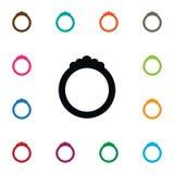 Icône d'isolement de bijoux Ring Vector Element Can Be a employé pour l'anneau, bijoux, concept de construction d'engagement Image stock
