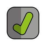 icône d'isolement de bouton correct Photographie stock libre de droits