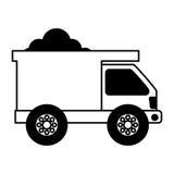 Icône d'isolement de camion à benne basculante Photographie stock